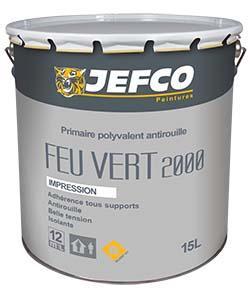 Primaire polyvalente antirouille FEU VERT 2000 blanc 1L
