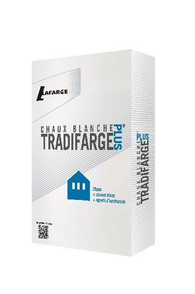 Chaux hydraulique formulée blanche TRADIFARGE PLUS HL 5 CE sac 35kg