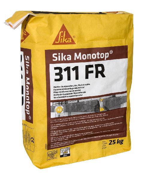 Mortier réparation SIKA MONOTOP 311FR gris R3 fibré sac 25kg