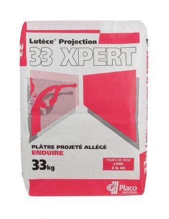 Plâtre allégé à projeter LUTECE PROJECTION 33 XPERT sac 33kg