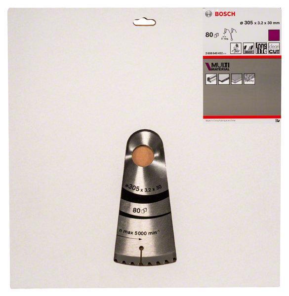 Lame de scie circulaire Ø305x30mm 80 dents MULTI