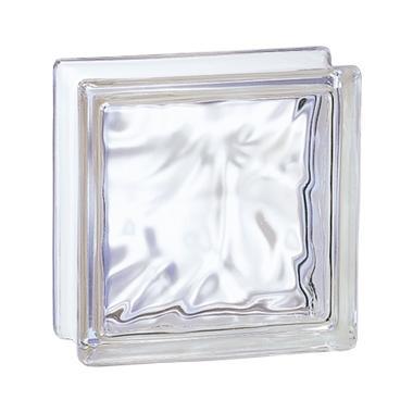 Brique de verre standard 198 nuagée incolore 19x19x8cm
