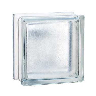 Brique de verre 198 satinée incolore 19x19x8cm