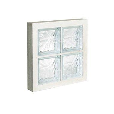 Panneau de verre standard 198 nuagée incolore 47x47x8cm N°22