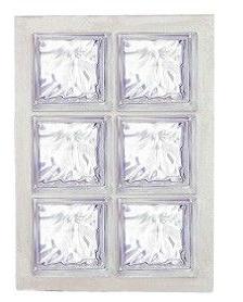 Panneau de verre standard 198 nuagée incolore 47x67x8cm N°23
