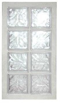 Panneau de verre standard 198 nuagée incolore 47x87x8cm N°24