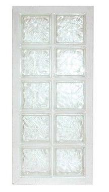 Panneau de verre standard 198 nuagée incolore 47x107x8cm N°25