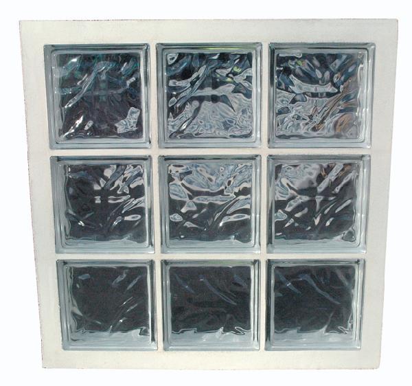 Panneau de verre standard 198 nuagée incolore 67x67x8cm N°33