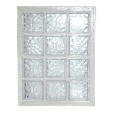 Panneau de verre standard 198 nuagée incolore 67x87x8cm N°34