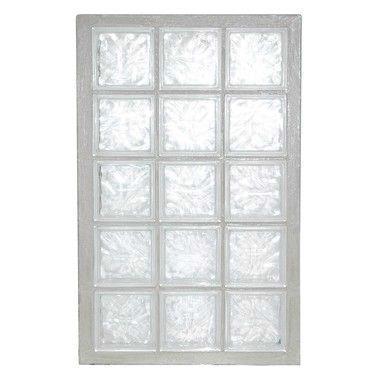 Panneau de verre standard 198 nuagée incolore 67x107x8cm N°35