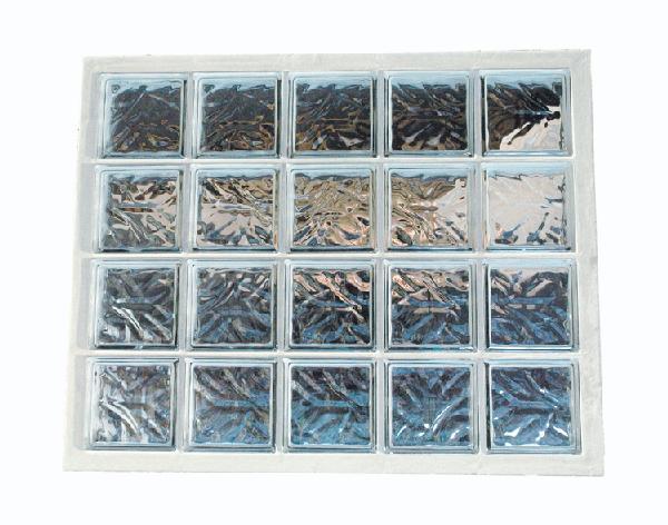 Panneau de verre standard 198 nuagée incolore 87x107x8cm N°45
