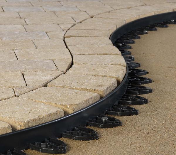 Bordure plastique 76mm pour dalles et pavés 2,4m