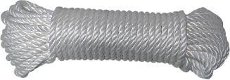 Cordage bandelettes polypropylène blanc 1,010T 25mx8mm 0,75Kg