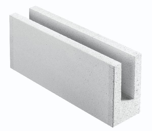 Bloc béton cellulaire chaînage horizontal 15x25x62,5cm