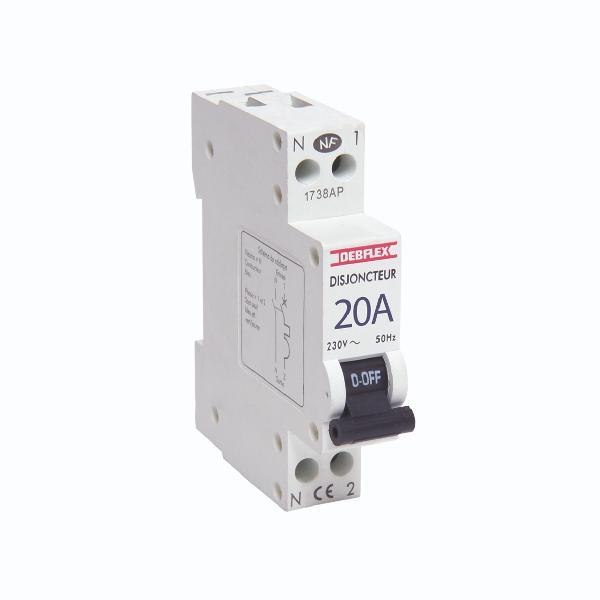 Disjoncteur PH+N 3kA 20A