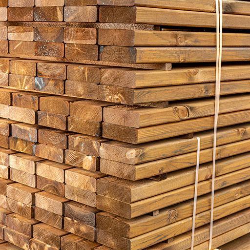 Sous-structure pin autoclave brun raboté 4 faces 45x145mm 3,00m