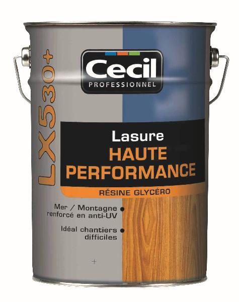 Lasure haute performance LX530+ alkyde satinée chêne bidon 5L