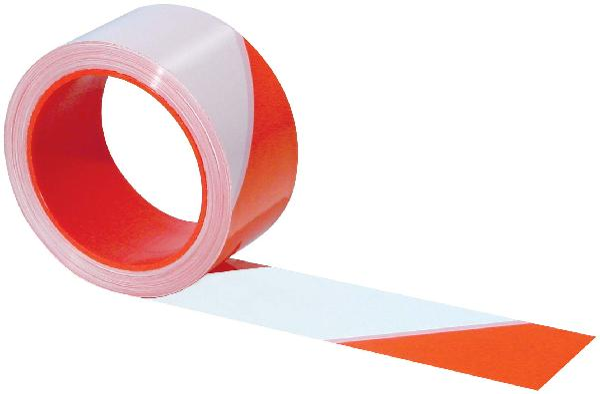 Ruban RUBAFORT 50mmx100m PE renforcé rouge/blanc