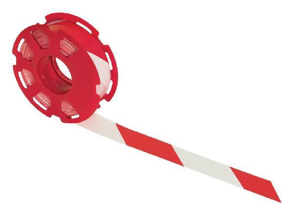 Ruban RUBAFORT 50mmx500m PE renforcé rouge/blanc