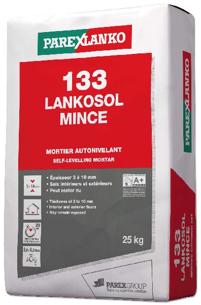 Mortier ragréage sol 133 LANKOSOL MINCE 133 sac 25kg