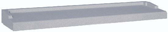 Appui nez arrondi gris tableau :140cm 35cm