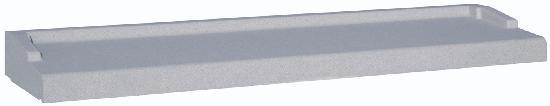 Appui nez arrondi gris 2 éléments tableau :200cm 35cm