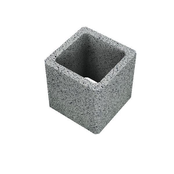 Bloc pilier à enduire 40x40x25 CE