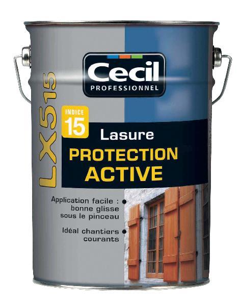 Lasure protection active LX515 acrylique satinée chêne ancien bidon 5L