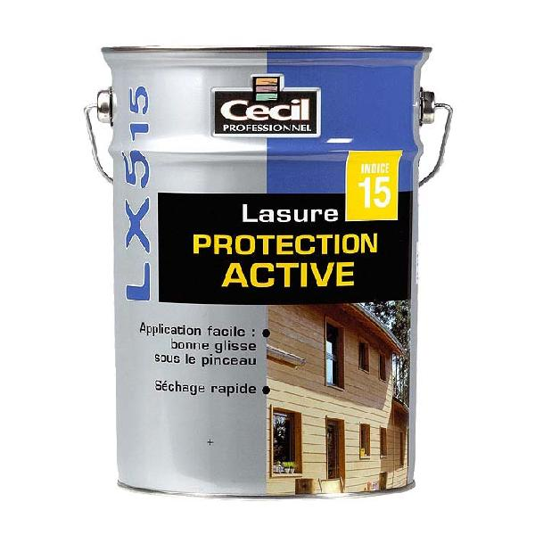 Lasure protection active LX515 acrylique satinée chêne doré bidon 5L