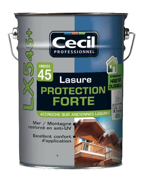 Lasure protection forte LX545+ acrylique satinée chêne clair bidon 5L