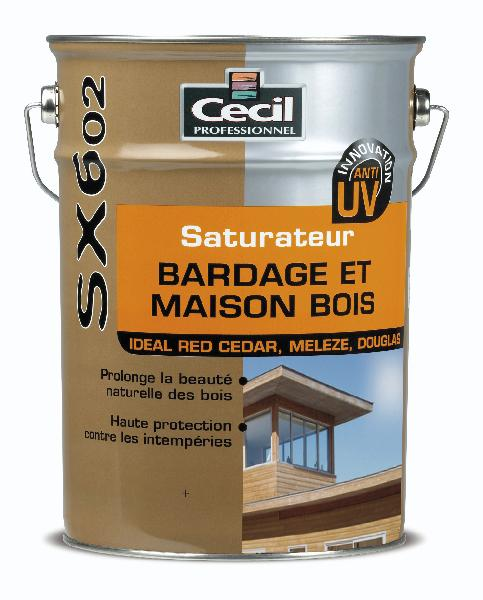 Saturateur UV bardage SX 602 phase aqueuse mat mélèze 10L