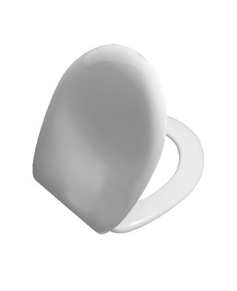 Abattant WC thermodur NORMUS blanc charnières métal NF