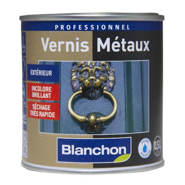 Vernis métaux acrylique, phase acqueuse brillant incolore 0,5L