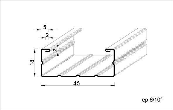 Fourrure métal /45 5,30m