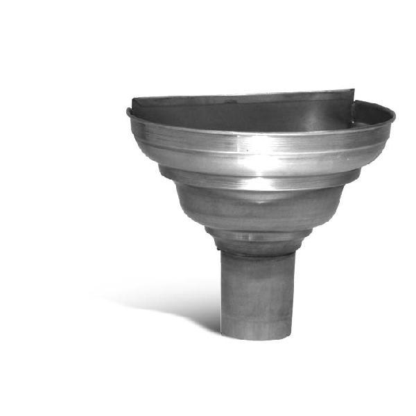 Cuvette d'angle 1/2 ronde cuivre Ø100mm