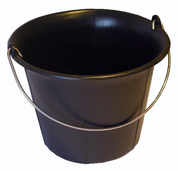Seau de maçon plastique noir 11L