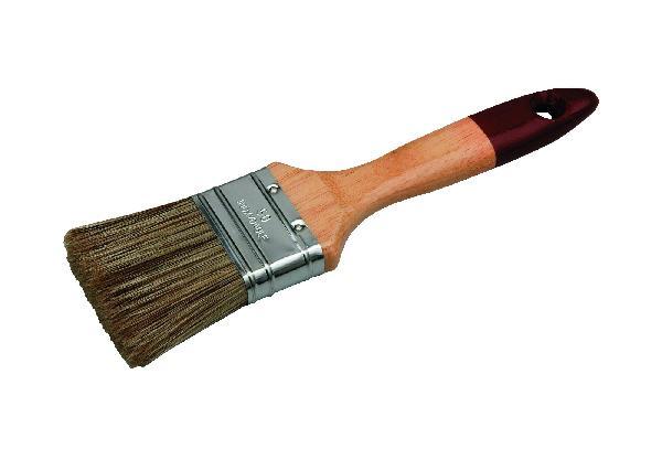 Brosse plate vernis lasure manche bois verni 65mm