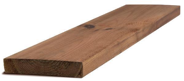 Lame terrasse pin scandinave traité CL4 brun lisse 27x145mm 4,80m