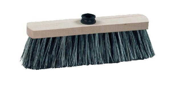 Balai pour sol ciment fibres PVC semelle bois 29cm