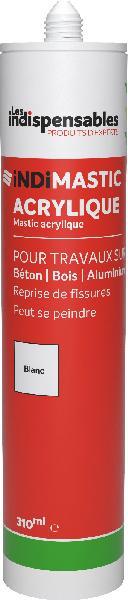 Mastic LES INDISPENSABLES acrylique blanc cartouche 310ml