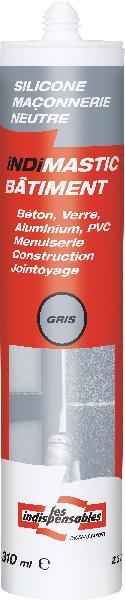 Mastic bâtiment LES INDISPENSABLES silicone gris cartouche 310ml