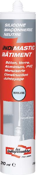 Mastic bâtiment LES INDISPENSABLES silicone translucide 310ml