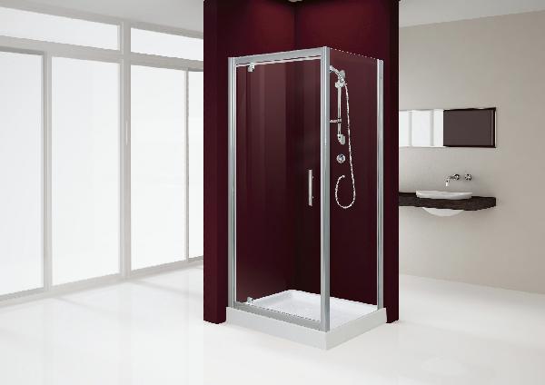 Porte douche BORA pivotante réversible 76x190cm Ep.6mm