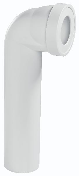 Pipe WC longue coudée 395mm Ø100mm 71060101