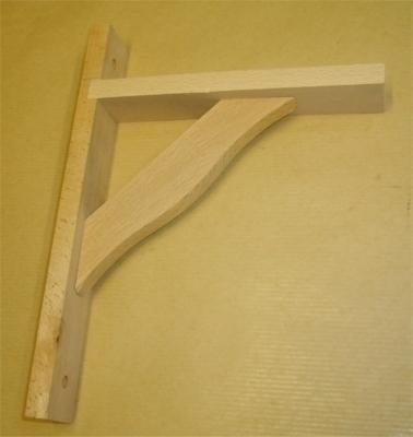 Console bois rustique 170x230mm hêtre