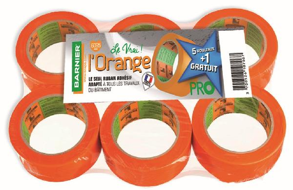 Adhésif PVC L'ORANGE 6095 50mmx33m lot 5+1 gratuit