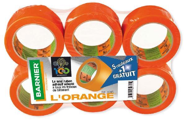 Adhésif PVC L'ORANGE 6095 75x33m lot 5+1 gratuit
