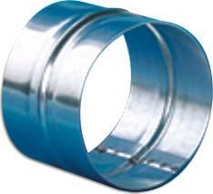 Manchon Ø150mm tôle galvanisée