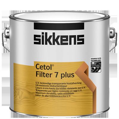 Lasure de finition CETOL FILTER 7 PLUS alkyde satinée chêne foncé 1L