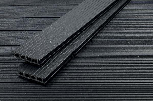 lame terrasse profi deck bois composite noir nuit ete 28x150mm 4m. Black Bedroom Furniture Sets. Home Design Ideas